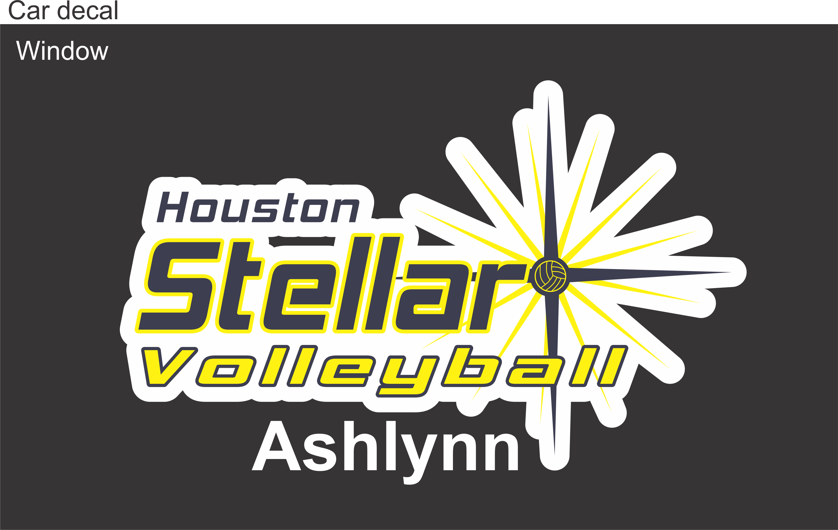 Houston Stellar Personalized Bag Tags  Pinnacle Sign Company - Custom car decals houston   how to personalize